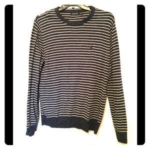 Men's Nautica striped crew neck sweater M EUC